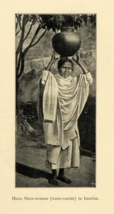 1901 Print Imerina Madagascar Hova Slave Woman Water Carrier Historic Image XGD8