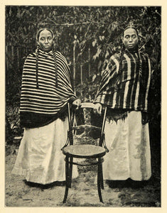 1901 Print Madagascar Hova Women Cultural Dress Hairstyles Voltzkow XGD8