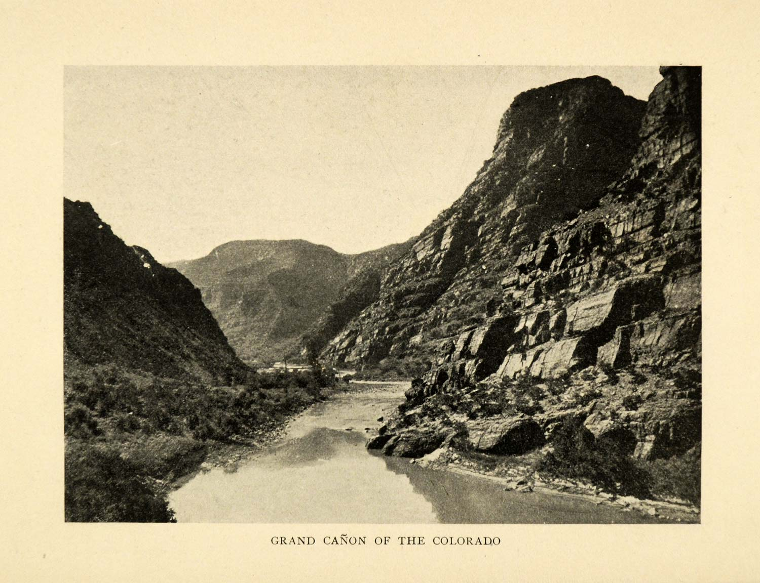 1906 Print Grand Canyon Colorado River National Park Historical Landmark XGD9