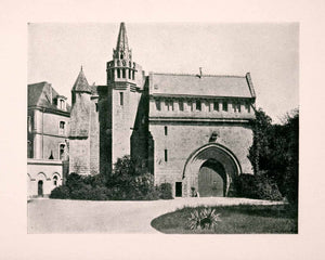 1906 Print Ancient Marmoutier Abbey Tours France Monastery Historic XGDA4