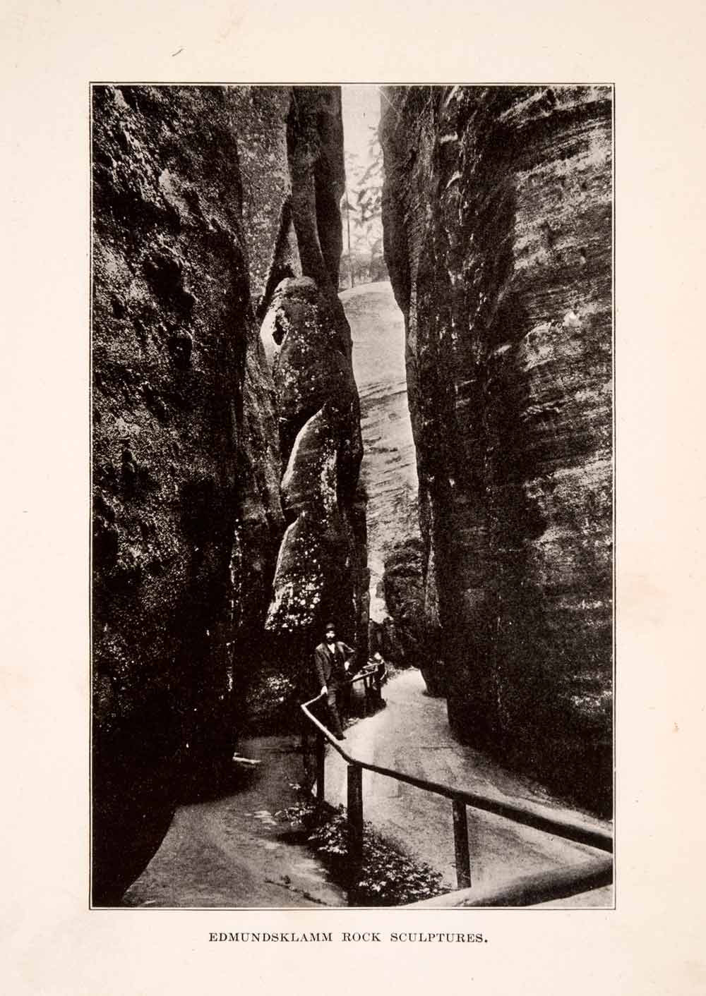 1929 Print Edmundsklamm Rock Formations Geology Czech Republic Natural XGDA5
