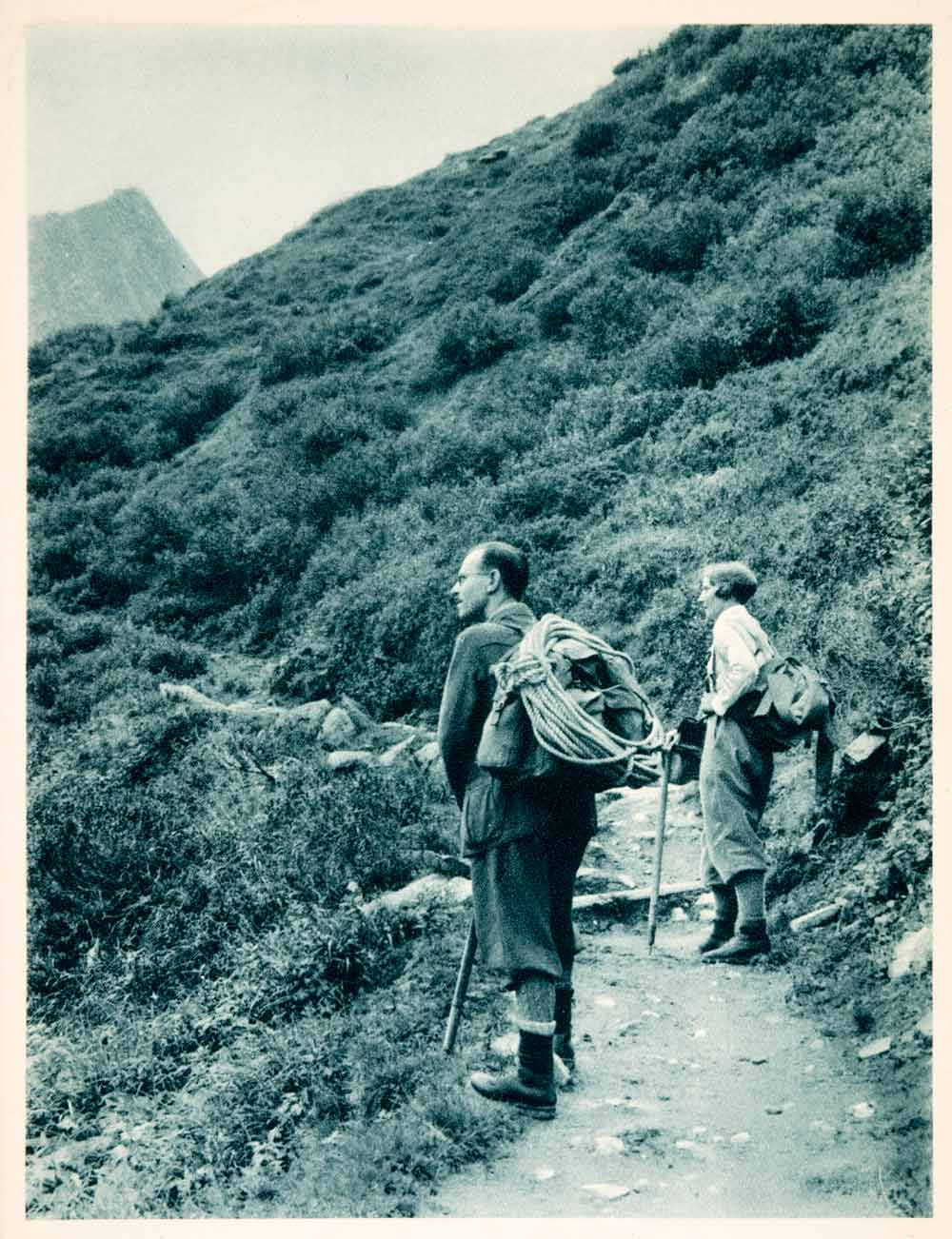 1937 Photogravure Vent Valley Path Otztal Alps Tyrol Austria Arthur XGDA6