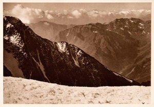 1937 Photogravure Ortler Alps South Tyrol Italy Summit Similaun Otztal XGDA6