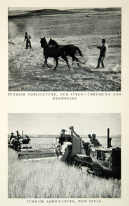 1952 Print Turkish Agriculture Threshing Winnowing Machinery Farming Land XGDD7