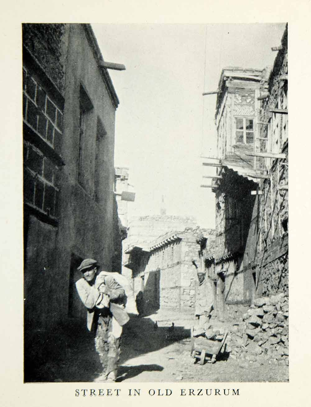 1952 Print Old Erzurum Turkey Middle East Cityscape Street Scene XGDD7