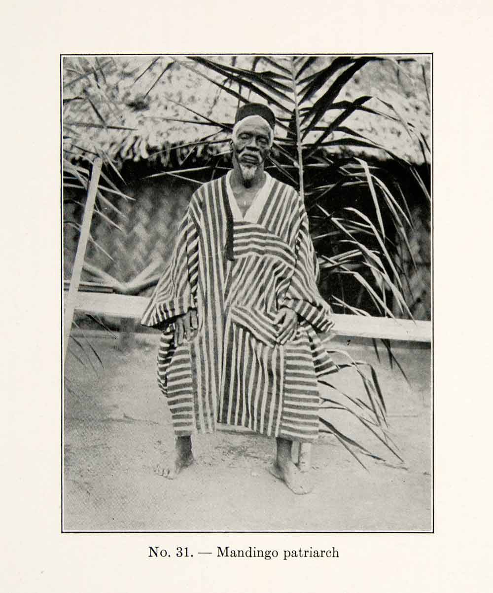 1930 Print Mandingo Patriarch Tribe Africa Indigenous Mali Empire West XGEC4