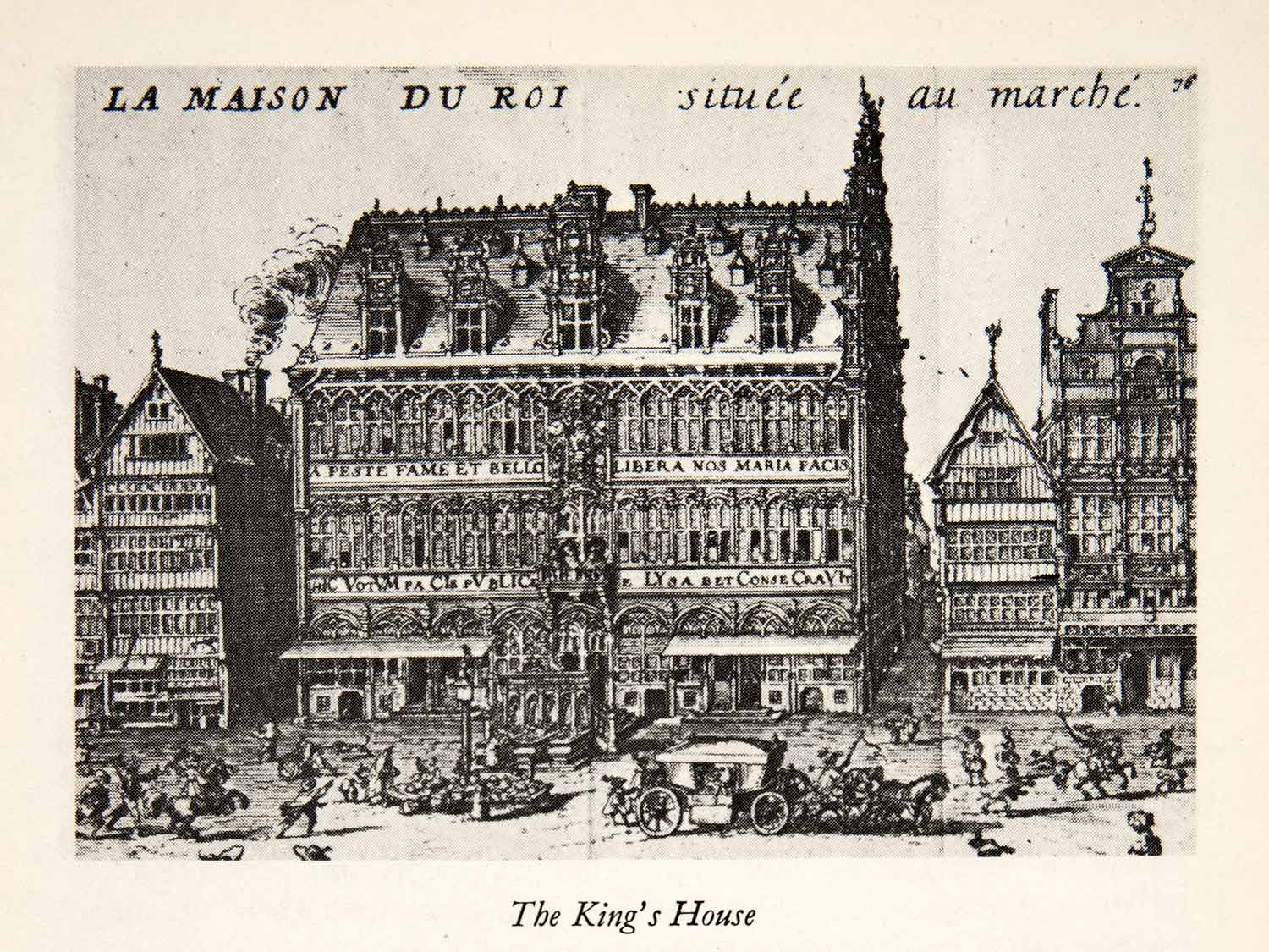 1950 Print Kings House Brussels Belgium Architecture Historic Landmark XGEC9