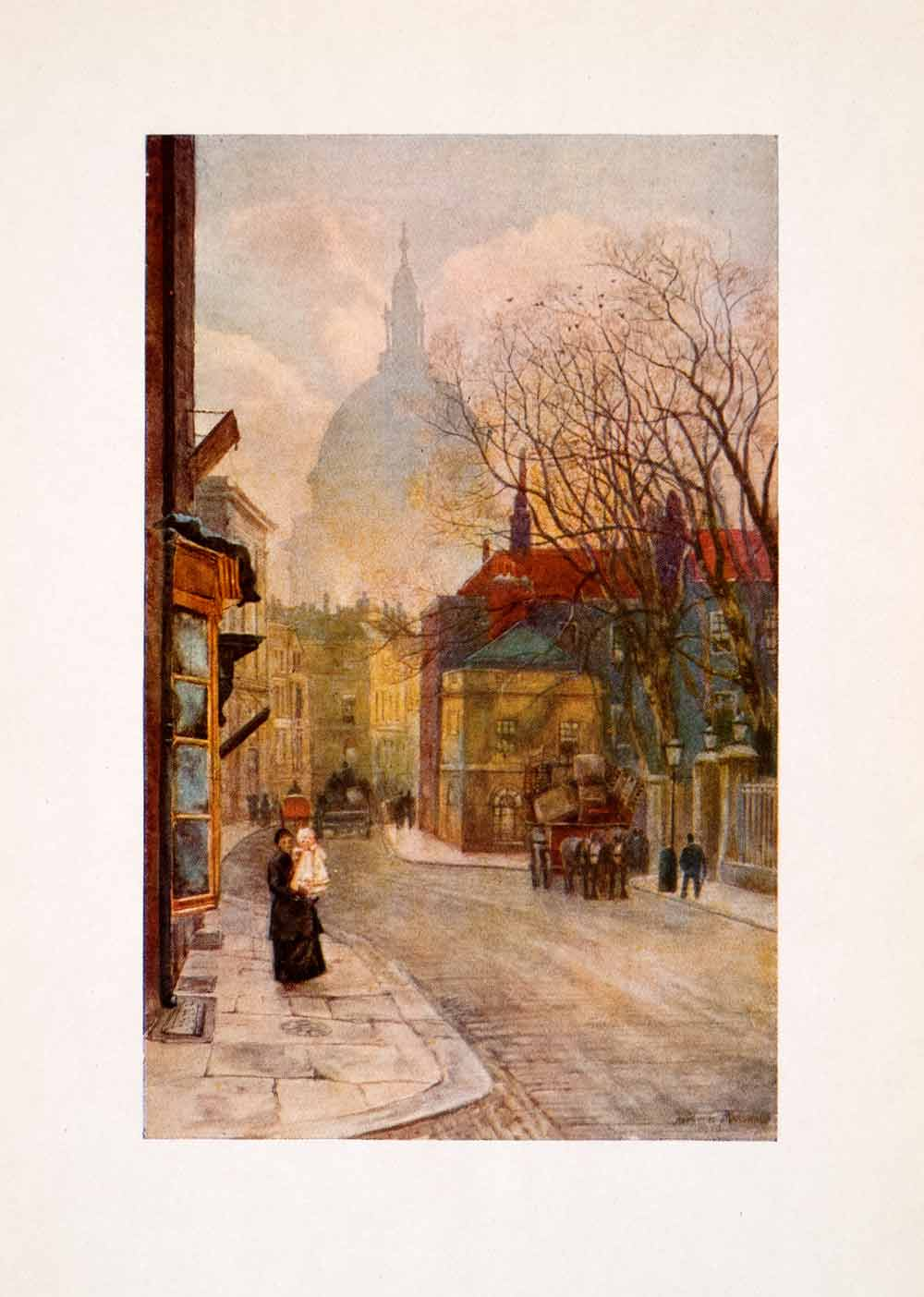 1905 Print Marshall Britain Aldersgate London England Ward Pauls Cathedral XGFA7