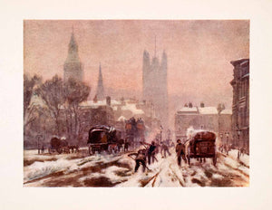 1905 Print Marshall Whitehall London Westminster England Road Winter XGFA7