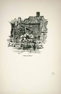 1921 Print Nautical House Massachusetts Home Clarence White Sketch Drawing XGFB9