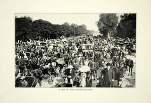 1903 Print Paris Expedition Champs Elysees Road France Historical Image XGFD2