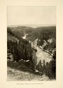 1903 Print Yellowstone National Park Upper Canyon Landscape Historical XGFD2