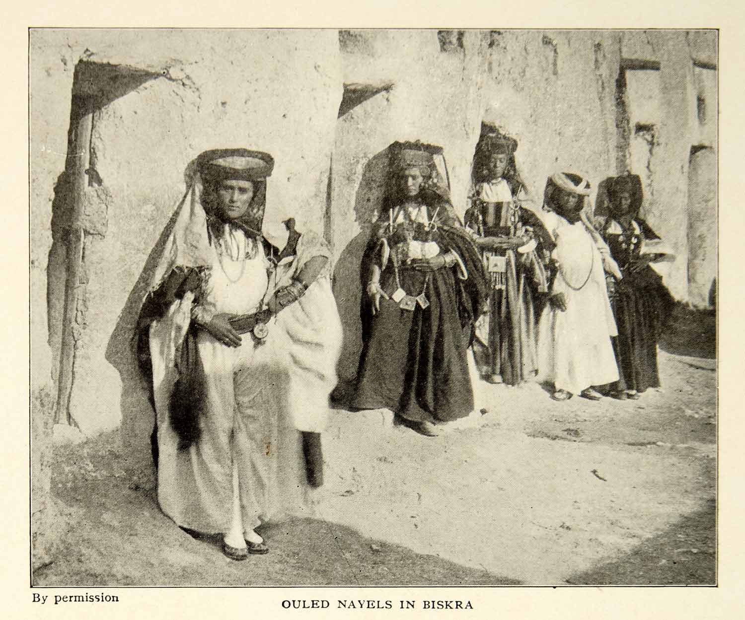 1903 Print Ouled Navels Biskra Algeria Costume Traditional Dress Image XGFD2