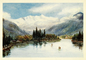 1907 Print Blumlisalp Thun Switzerland Bluemlisalp Bernese Alps Mountain XGG4