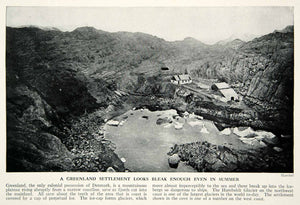 1938 Print Greenland Landscape Settlement Architecture Historical Image XGGD4