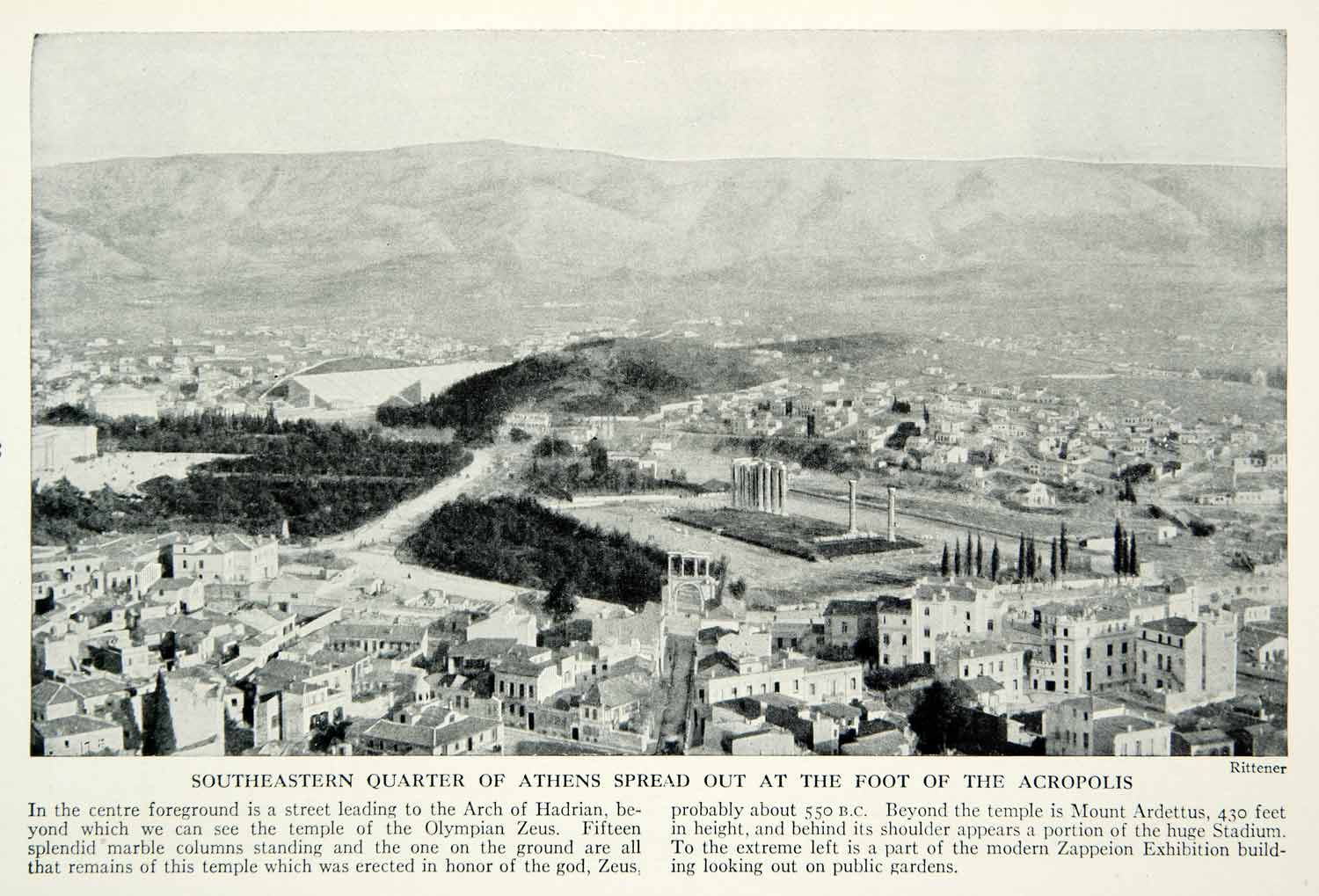 1938 Print Acropolis Architecture Athens Greece Cityscape Historical Image XGGD4