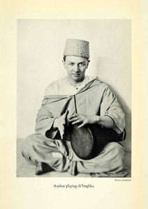 1936 Halftone Print Philip Thornton Costume Fez Morocco Musician Dr'bughka XGH1