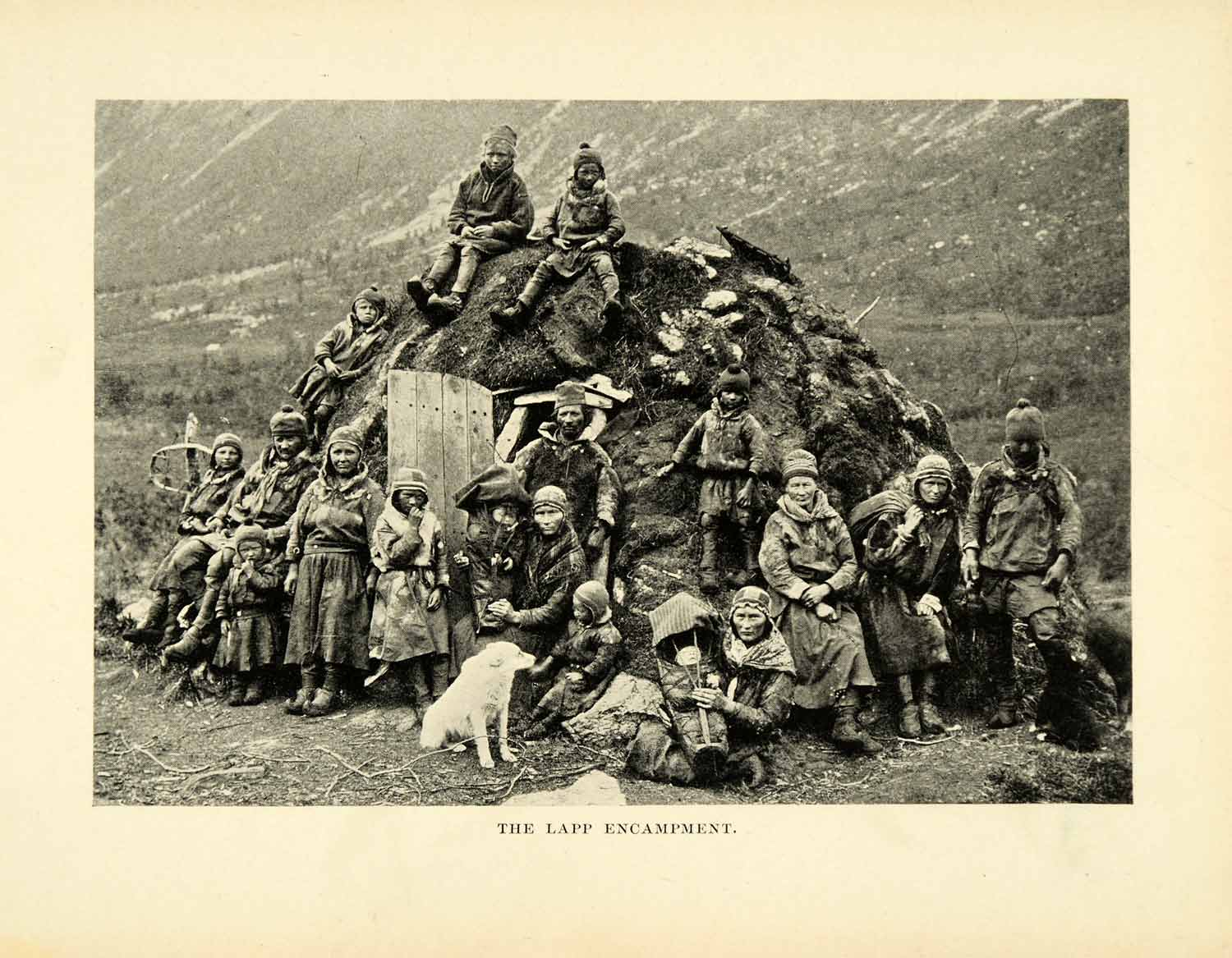 1896 Halftone Print Laplander Norway Encampment Hut Natives Historic Image XGH3