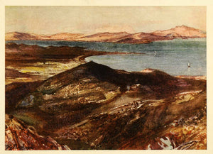1909 Color Print Marathon Greece Battlefield Aegean Ionian Sea Lanscape Art XGH8