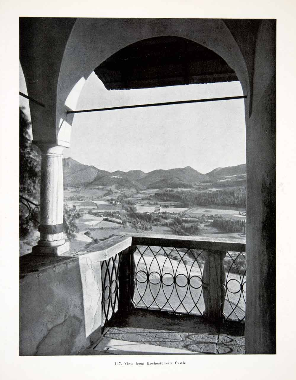 1956 Print View Hochosterwitz Castle Landscape Mountains Balcony Valley XGHC9