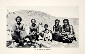 1932 Print Shahara Tribesmen People Culture Native Ethnic Men Middle East XGHD7