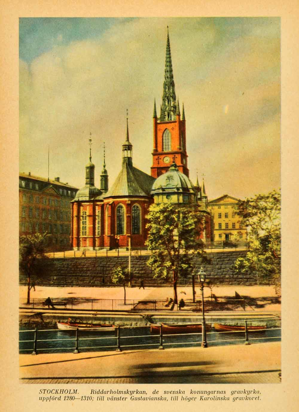 1936 Print Riddarholmen Church Swedish Monarch Burial Stockholm Sweden XGI1