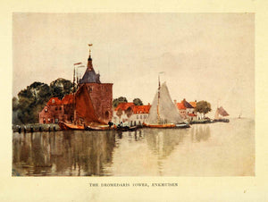 1906 Print Dromedaris Tower Enkhuisen Netherlands Harbor Herbert Marshall XGI6