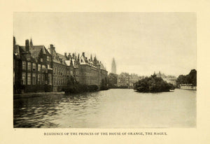 1906 Print Prince House Orange Hague Netherlands Royalty South Holland XGI9