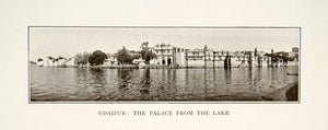 1907 Print Udaipur India Royal Palace Landscape Pichola Lake Historic XGIB2