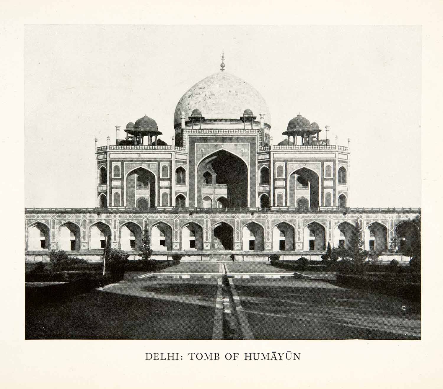 1938 Print Delhi India Tomb Humayun Architecture Historical Landmark XGIB6