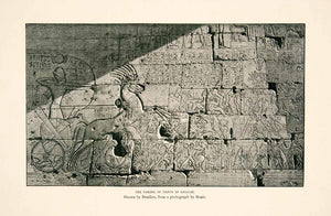 1897 Print Taking Dapur Galilee Egyptian Bas-Relief Hieroglyphics Chariot XGIC1