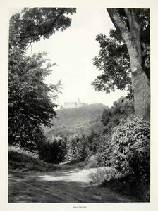 1952 Rotogravure Wartburg Germany Rural Forest Castle Thuringia Feudal XGIC3