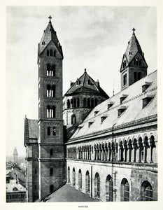 1952 Rotogravure Speyer Cathedral Germany Architecture Roman Catholic XGIC3