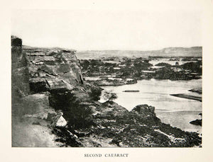 1911 Print 2nd Cataract Egypt Rock Formations Waterway Landscape Historic XGJC9