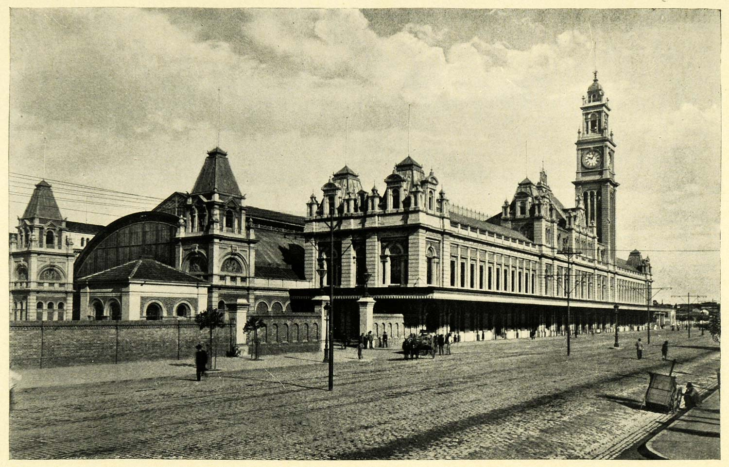 1906 Print Architecture Railway Brazil Terminal Sao Paulo Railroad Train XGK5