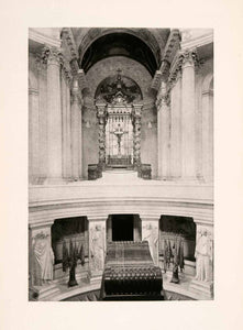 1904 Photogravure Tomb Napoleon Hotel Invalides Historical Monument Paris XGKA7