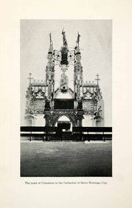 1920 Print Columbus Cathedral Tomb Santo Domingo City Dominican Republic XGKB1