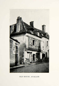 1927 Print House Village Avallon Yonne Burgundy France Bourgogne Home XGKC9