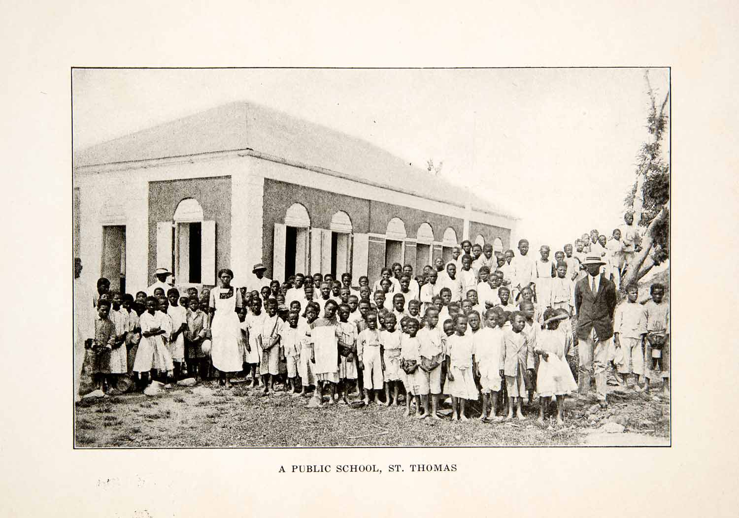1926 Print Public School Students Class Children St. Thomas Caribbean XGLB4