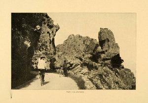 1903 Print Calanches Calanques Corsica France Mediterranean Coast Bicycle XGM1