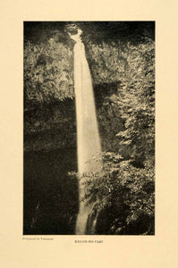 1903 Print Kegon-no-taki Japan Waterfalls Lake Chuzenji Nikko National Park XGM1