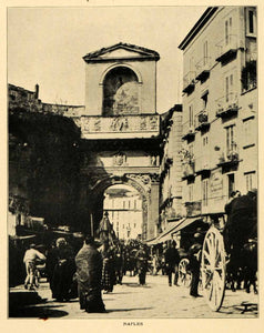 1903 Print Naples Italy Italia Architecture Arch Horse Carriage Constable XGM1