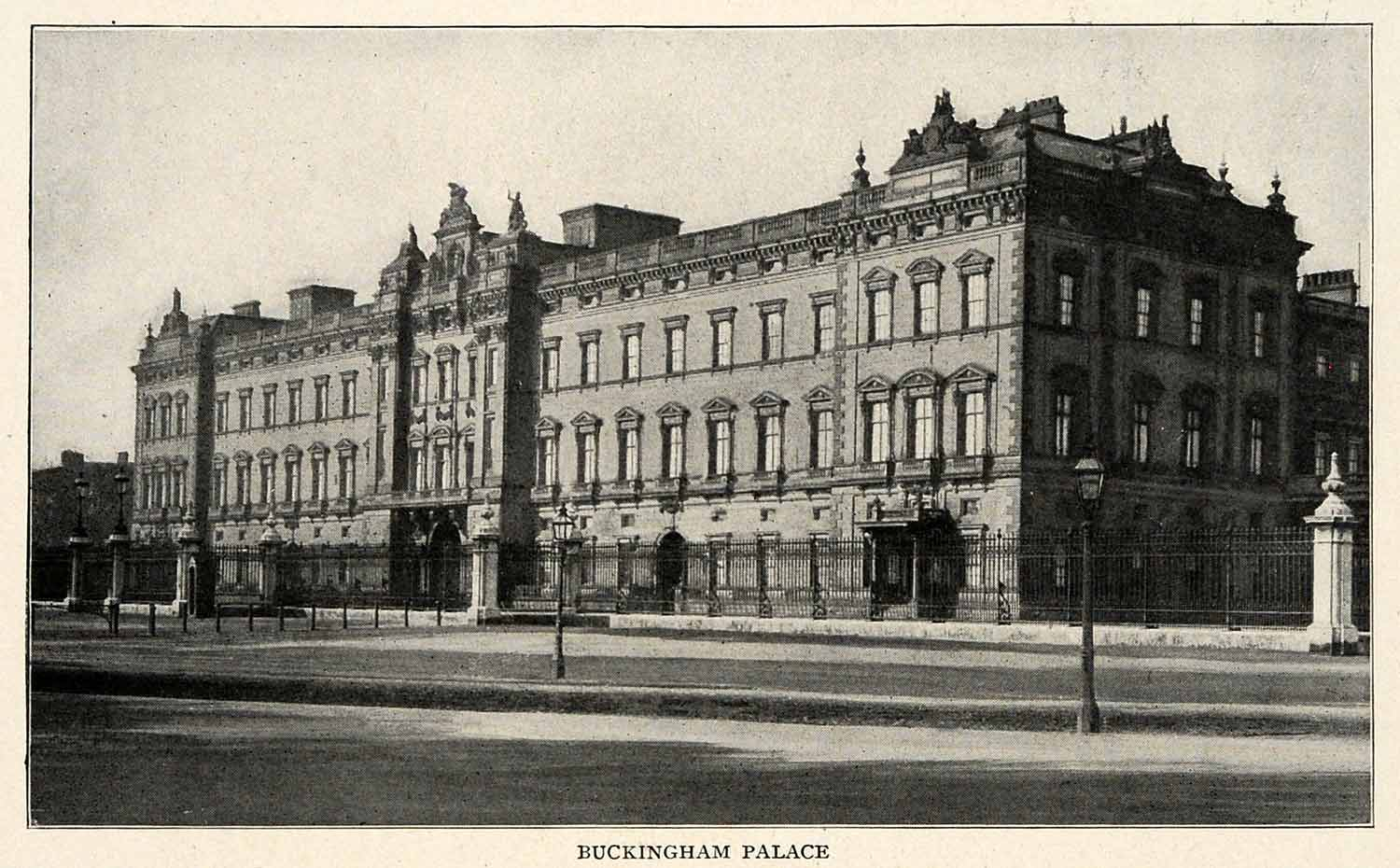 1910 Print Royal Buckingham Palace Windsor Architecture East Front XGM2