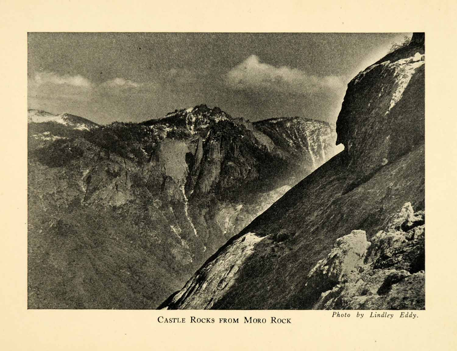1928 Print Castle Rocks Moro Sequoia National Park Landscape Mountains XGM6