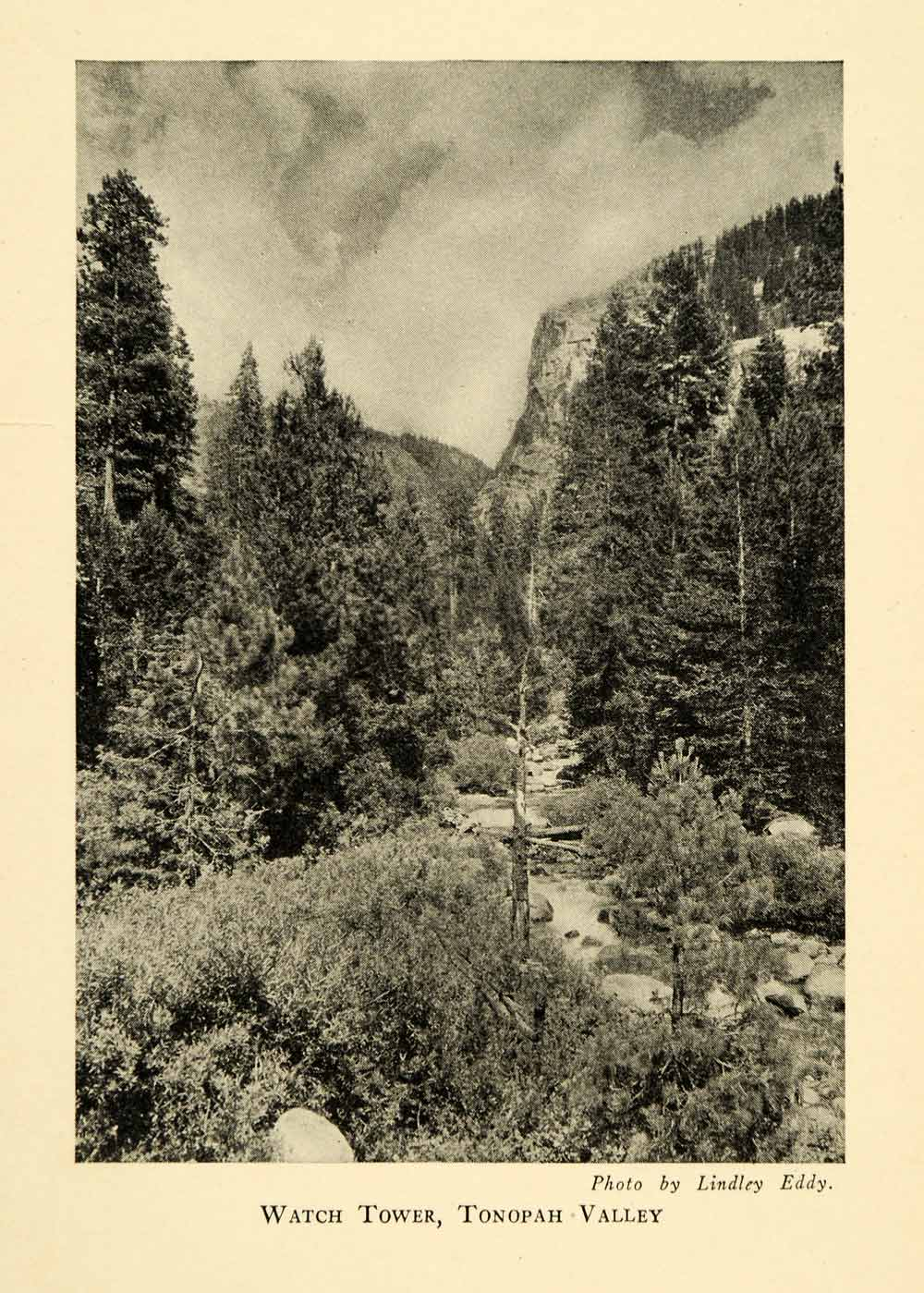 1928 Print Watch Tower Tonopah Valley Sequoia National Park California XGM6