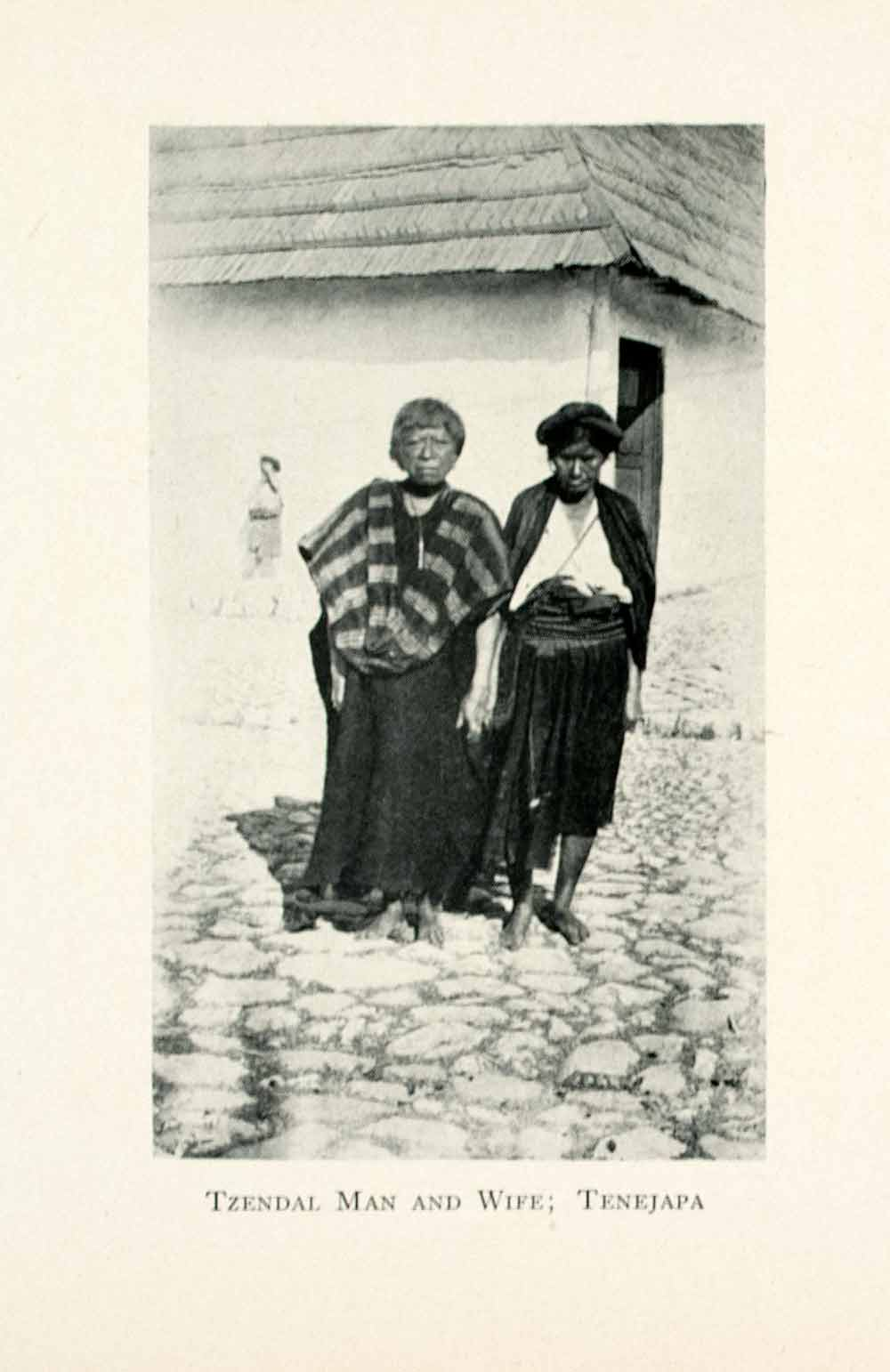 1908 Print Tzendal Man Wife Tenejapa Mexico Indigenous People Costumes XGMA4