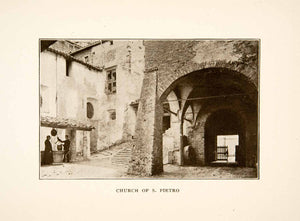 1907 Print Church San Pietro Umbria Perugia Italy Well Historic Landmark XGMB9