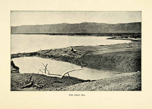 1901 Print Dead Sea Mountains Water Religion Israel Jordan West Bank XGN3