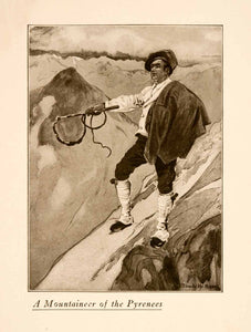 1907 Halftone Print Mountaineer Pyrenees Costume Spain Conquerer France XGNA3