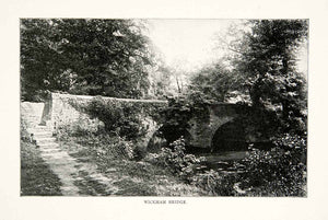 1902 Print Wickham Bridge Glen Frome Valley Trail Eastville Park Bristol XGNB6
